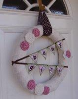 shabby chic baby shower wreath