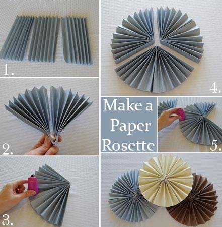 How to make a rosette backdrop how to make a paper rosette mightylinksfo