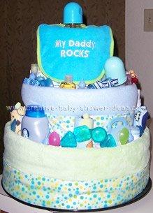 my daddy rocks bib diaper cake