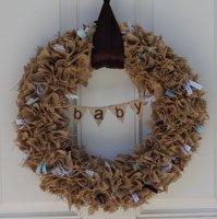 scrappy baby shower wreath