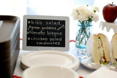 school baby shower food table