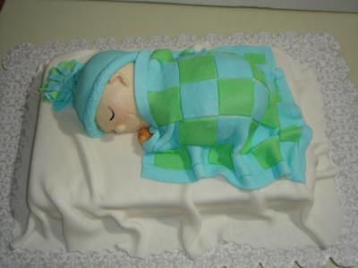 Sleeping Baby Shower Cake