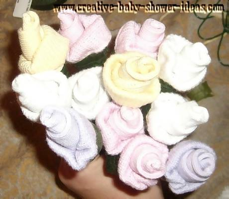 pastel colored sock roses