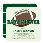 football touchdown baby shower invitation