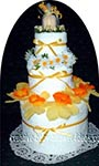 yellow daffodil towel cake