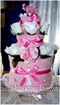 pretty in pink towel cake