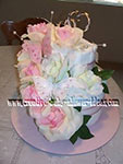 pink butterfly towel cake