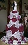 purple wedding towel cake