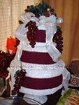 maroon christmas towel cake
