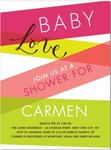 stripes of love baby shower invitation