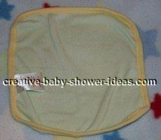 washcloth laying flat