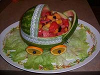 lace ribbonwatermelon baby buggy