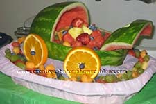 fruit salad watermelon baby carriage