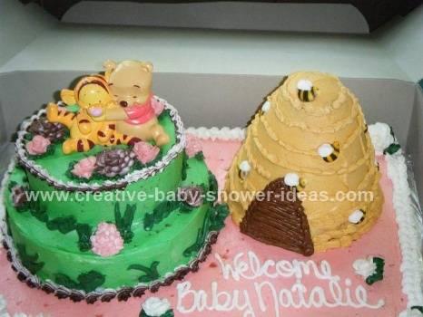 baby pooh and tigger cake