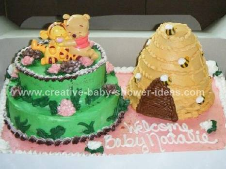winnie the pooh and friends baby shower cake