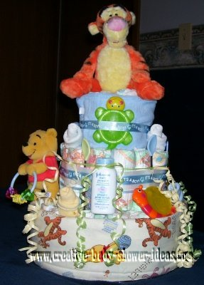 tiger and winnie the pooh toys diaper cake