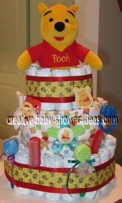 red honey bee winnie the pooh diaper cake