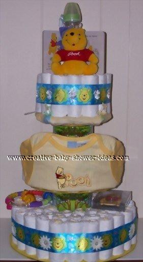 tree winnie the pooh diaper cake