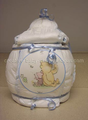 diaper winnie the pooh honey pot cake