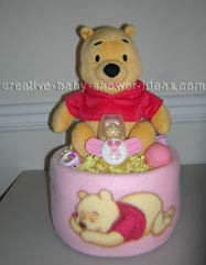 pink blanket winnie the pooh diaper cake
