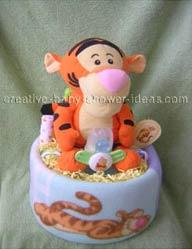 tigger blanket diaper cake