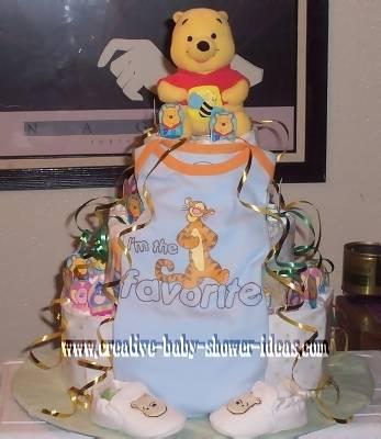 favorite onesie winnie the pooh diaper cake