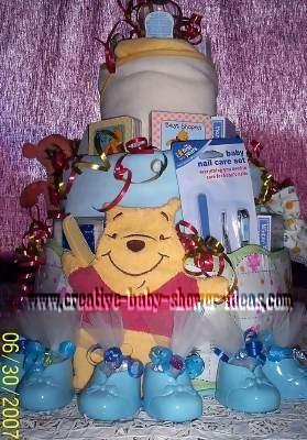 book winnie the pooh diaper cake
