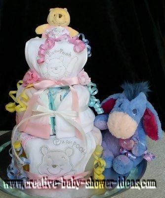 winnie the pooh and eeyore diaper cake
